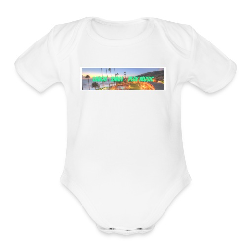 Laugh, Smile, play music clothing line - Organic Short Sleeve Baby Bodysuit