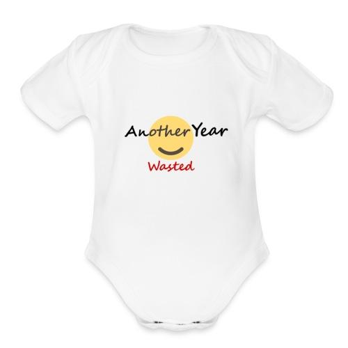 New Year - Organic Short Sleeve Baby Bodysuit