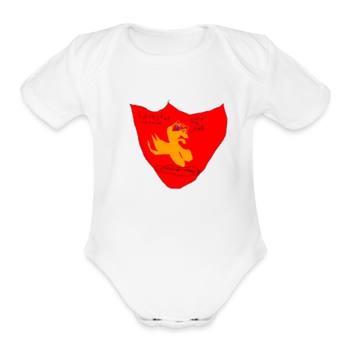 kk i am cool d00d - Organic Short Sleeve Baby Bodysuit