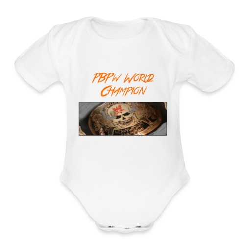 PBPW_World_Champion - Organic Short Sleeve Baby Bodysuit