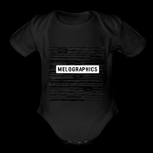 MELOGRAPHICS | Blackout Poem - Organic Short Sleeve Baby Bodysuit