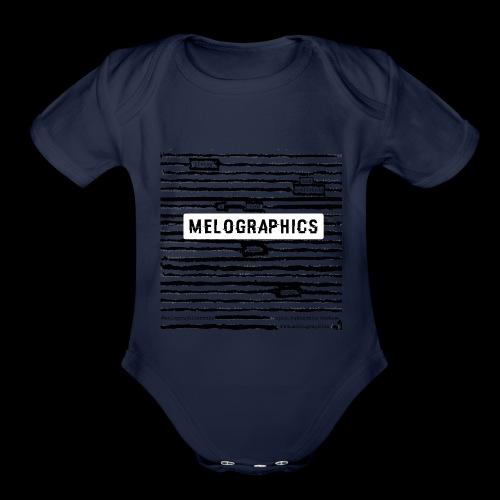 MELOGRAPHICS   Blackout Poem - Organic Short Sleeve Baby Bodysuit