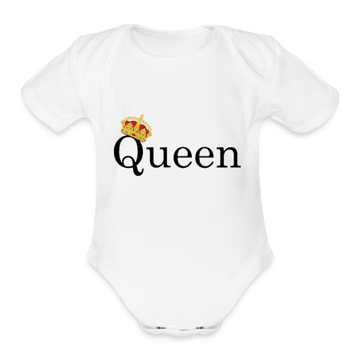 Queen | Yes you are - Organic Short Sleeve Baby Bodysuit