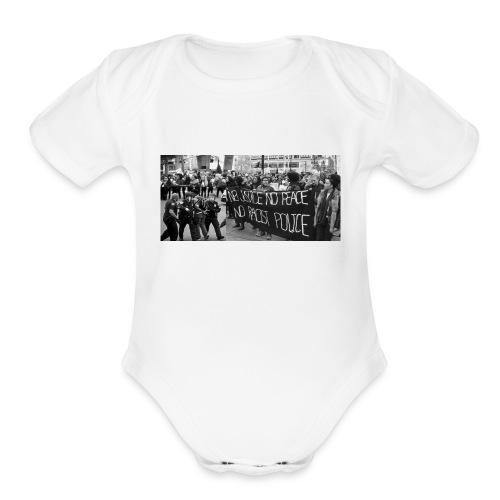 No Racist Cops - Organic Short Sleeve Baby Bodysuit