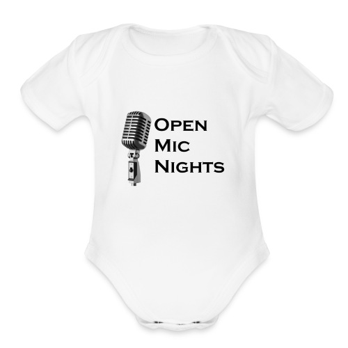 Open Mic Nights - Organic Short Sleeve Baby Bodysuit