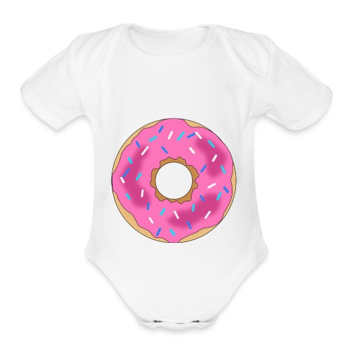 Donut - Organic Short Sleeve Baby Bodysuit