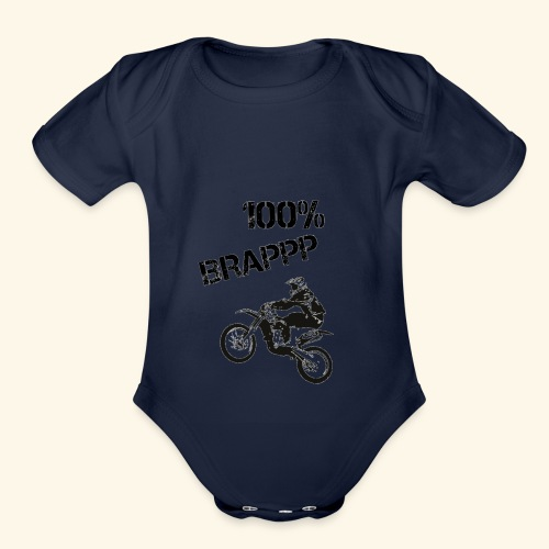 100% BRAPPP (Black and White) - Organic Short Sleeve Baby Bodysuit