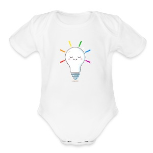 Lighten Up - Short Sleeve Baby Bodysuit