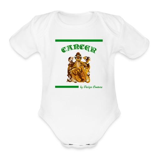CANCER GREEN - Organic Short Sleeve Baby Bodysuit