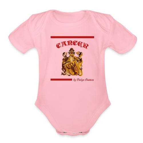 CANCER RED - Organic Short Sleeve Baby Bodysuit