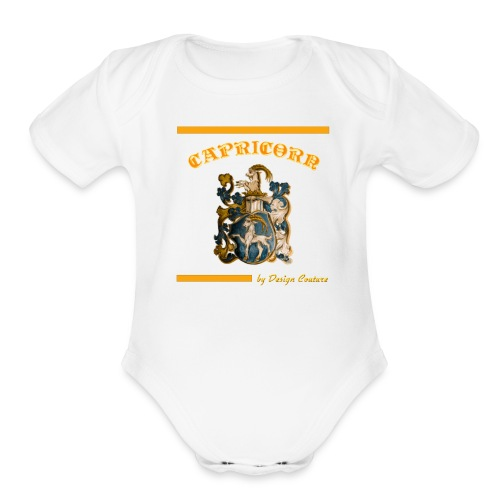 CAPRICORN ORANGE - Organic Short Sleeve Baby Bodysuit