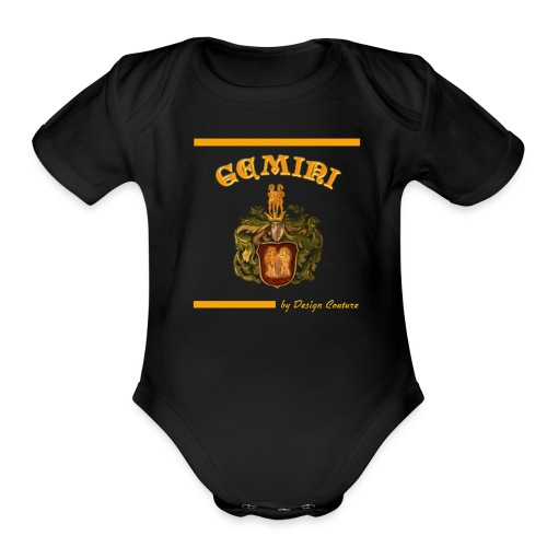 GEMINI ORANGE - Organic Short Sleeve Baby Bodysuit