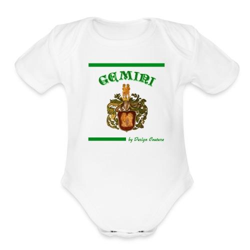 GEMINI GREEN - Organic Short Sleeve Baby Bodysuit