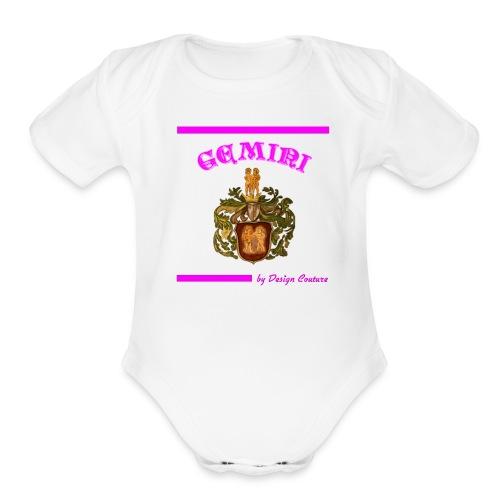 GEMINI PINK - Organic Short Sleeve Baby Bodysuit