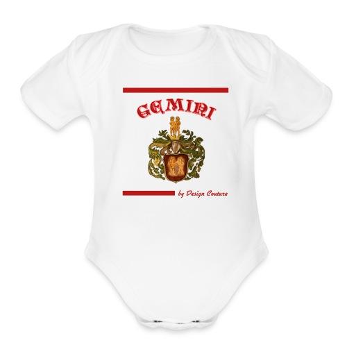 GEMINI RED - Organic Short Sleeve Baby Bodysuit