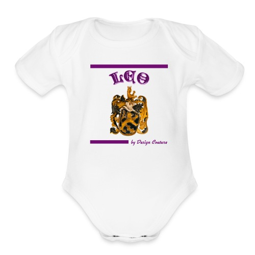 LEO PURPLE - Organic Short Sleeve Baby Bodysuit