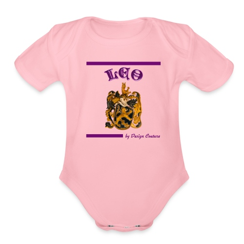 LEO PURPLE - Organic Short Sleeve Baby Bodysuit