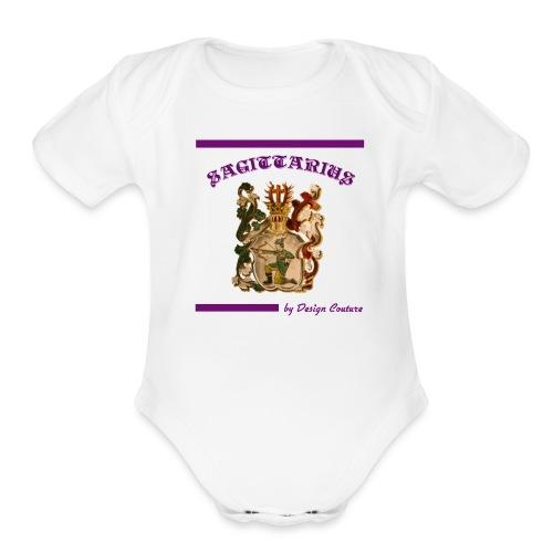 SAGITTARIUS PURPLE - Organic Short Sleeve Baby Bodysuit