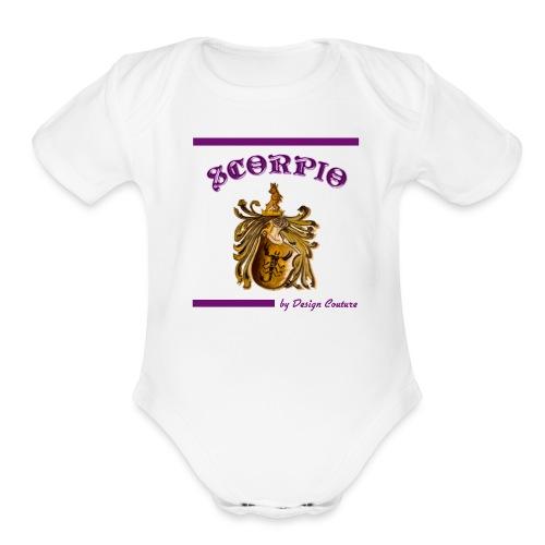 SCORPIO PURPLE - Organic Short Sleeve Baby Bodysuit