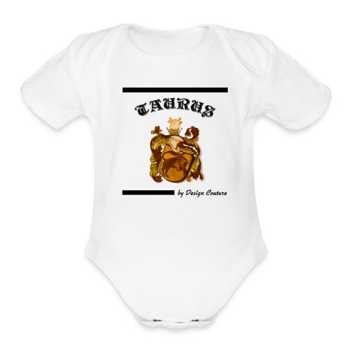 TAURUS BLACK - Organic Short Sleeve Baby Bodysuit