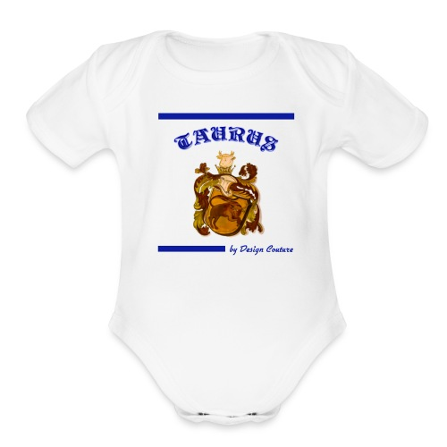 TAURUS BLUE - Organic Short Sleeve Baby Bodysuit
