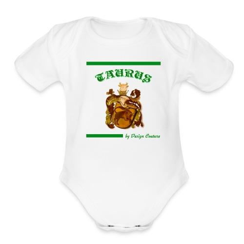 TAURUS GREEN - Organic Short Sleeve Baby Bodysuit