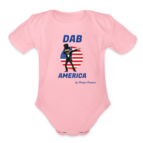 DAB AMERICA BLUE - Organic Short Sleeve Baby Bodysuit