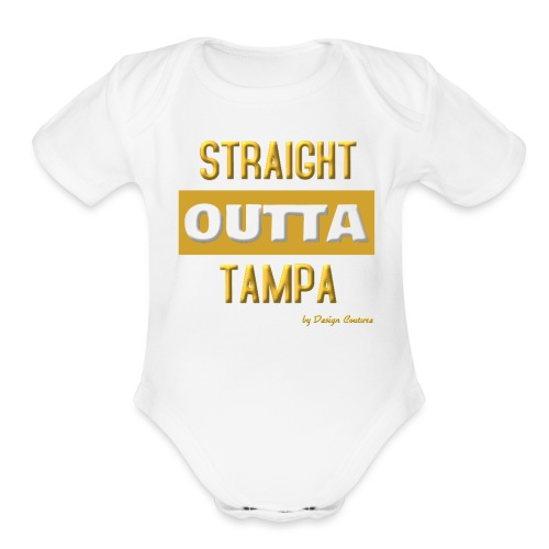 STRAIGHT OUTTA TAMPA GOLD - Organic Short Sleeve Baby Bodysuit
