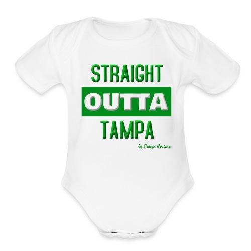 STRAIGHT OUTTA TAMPA GREEN - Organic Short Sleeve Baby Bodysuit