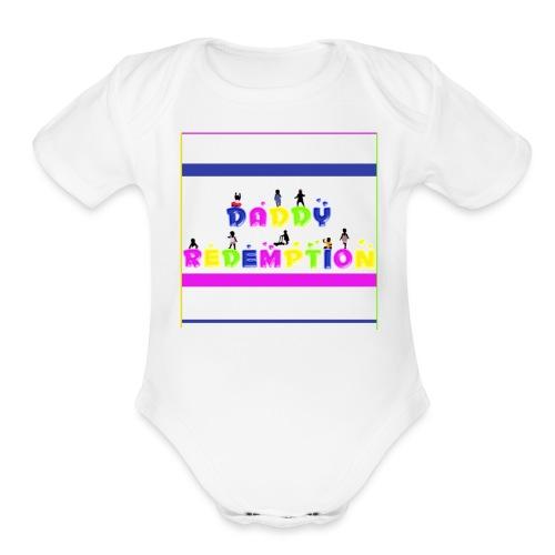 DADDY REDEMPTION T SHIRT TEMPLATE - Organic Short Sleeve Baby Bodysuit