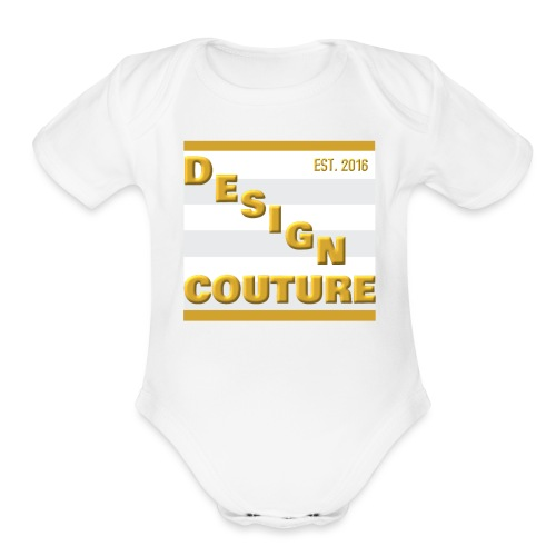 DESIGN COUTURE EST 2016 GOLD - Organic Short Sleeve Baby Bodysuit