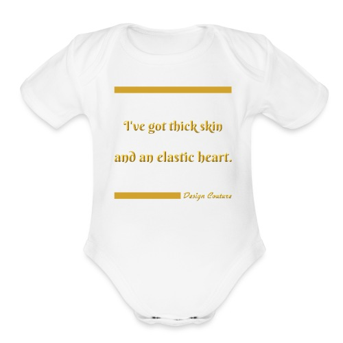 I VE GOT THICK SKIN GOLD - Organic Short Sleeve Baby Bodysuit