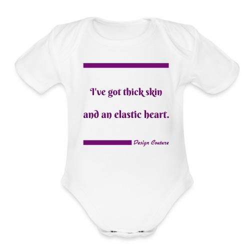 I VE GOT THICK SKIN PURPLE - Organic Short Sleeve Baby Bodysuit