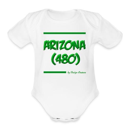 ARIZON 480 GREEN - Organic Short Sleeve Baby Bodysuit