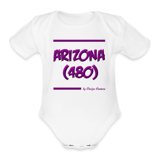 ARIZON 480 PURPLE - Organic Short Sleeve Baby Bodysuit