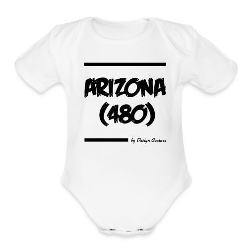 ARIZON 480 BLACK - Organic Short Sleeve Baby Bodysuit