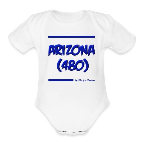 ARIZON 480 BLUE - Organic Short Sleeve Baby Bodysuit