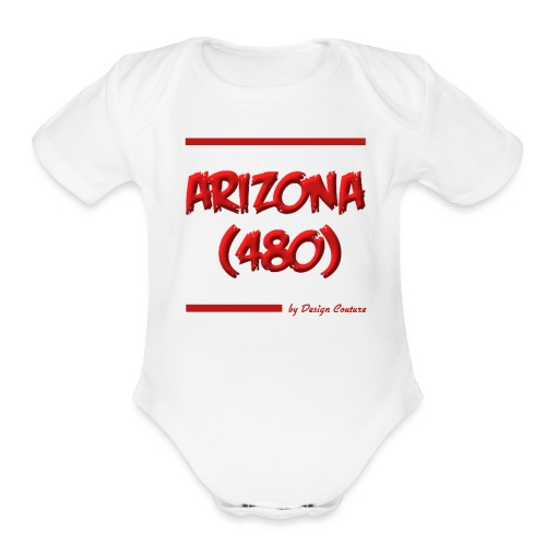 ARIZON 480 RED - Organic Short Sleeve Baby Bodysuit