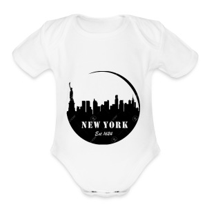 New york - Short Sleeve Baby Bodysuit