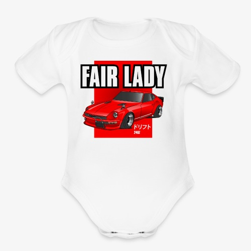 240z fair lady - Organic Short Sleeve Baby Bodysuit