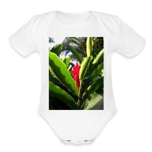 jamaica love - Short Sleeve Baby Bodysuit