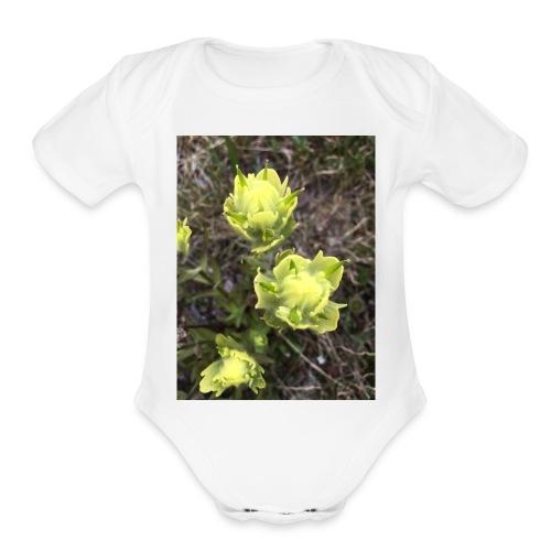 Rocky Mountain flowers - Organic Short Sleeve Baby Bodysuit