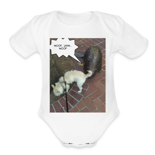 Naughty lil beaver - Organic Short Sleeve Baby Bodysuit