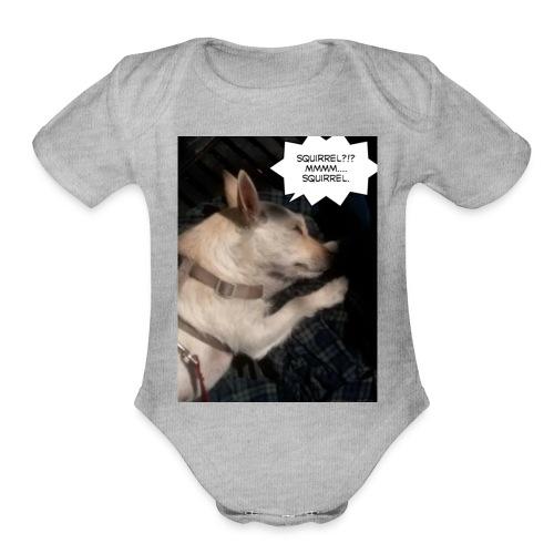 Dreaming of squirrel - Organic Short Sleeve Baby Bodysuit