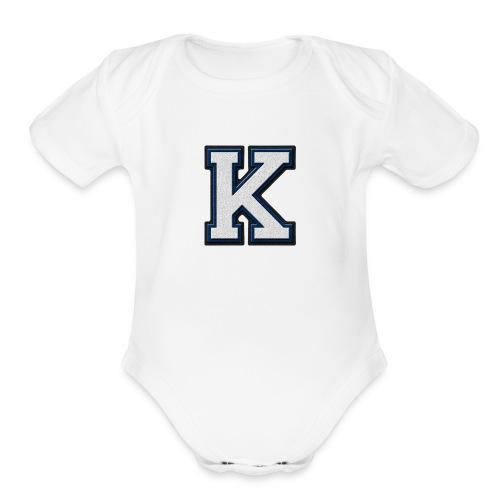 K BY KEVIN RUPAREL - Organic Short Sleeve Baby Bodysuit