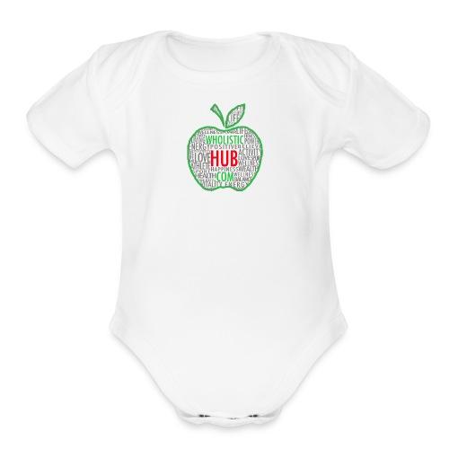 WholisticHub Apple - Organic Short Sleeve Baby Bodysuit
