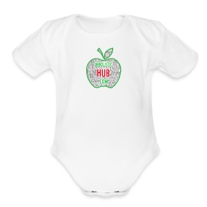 WholisticHub Apple - Short Sleeve Baby Bodysuit