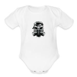 Gangstar Skull - Short Sleeve Baby Bodysuit