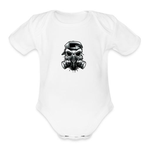 Gangstar Skull - Organic Short Sleeve Baby Bodysuit