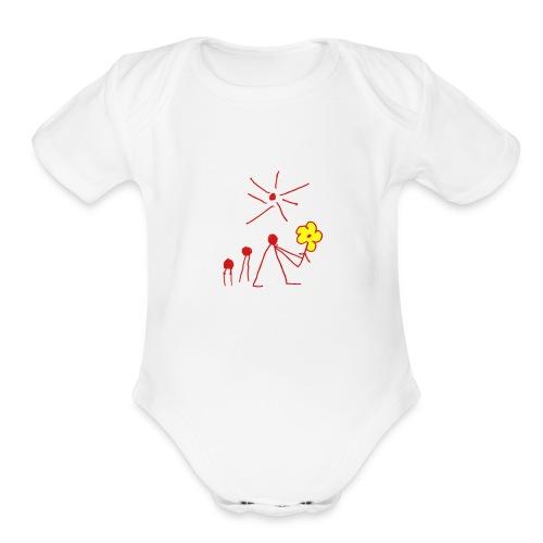 The Flower - Organic Short Sleeve Baby Bodysuit